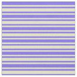 [ Thumbnail: Medium Slate Blue & Pale Goldenrod Pattern Fabric ]