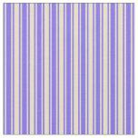 [ Thumbnail: Medium Slate Blue & Tan Lines/Stripes Pattern Fabric ]