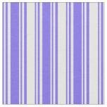 [ Thumbnail: Medium Slate Blue & White Stripes Fabric ]