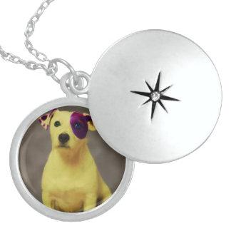 Medium Sterling Circle Locket Necklace