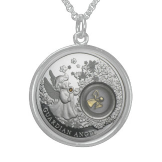 Medium Sterling Silver Round Necklace