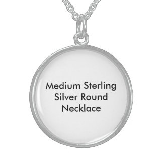 Medium Sterling Silver Round Necklace2 Sterling Silver Necklaces