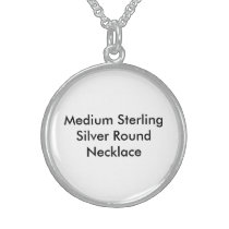 Medium Sterling Silver Round Necklace2 Sterling Silver Necklace