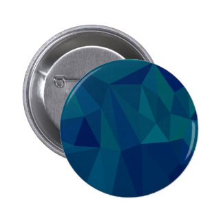 Medium Teal Blue Abstract Low Polygon Background 2 Inch Round Button