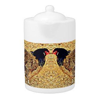 Medium Teapot - Desert Rooster