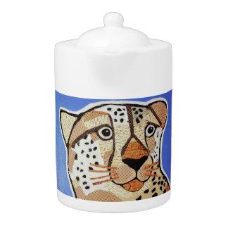 Medium Teapot with Bright Cheetah