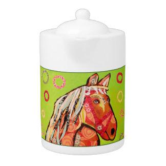Medium Teapot with Bright Horse