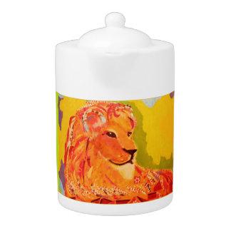 Medium Teapot with Bright Tiger