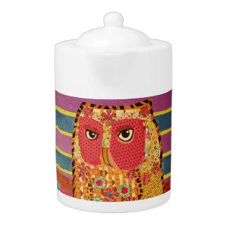 Medium Teapot with Cool Owl