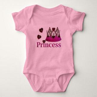 Medium Violet Red Princess Crown Baby Bodysuit