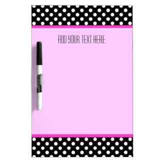 Medium w/ Pen: Polkadot Pink Trim: Dry Erase Board