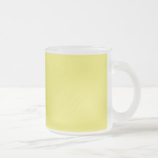 Medium Yellow Solid Background Color FFFF66 10 Oz Frosted Glass Coffee Mug