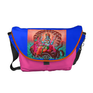 MEDIUM YOGA BIKE BAG-COLORFUL VISHNU CREATION COURIER BAG