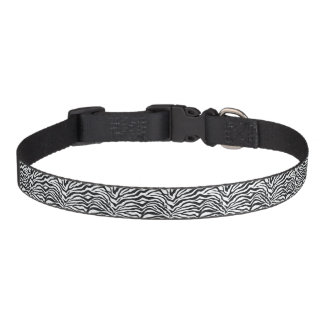 Medium Zebra Stripes Animal Print Dog Collar