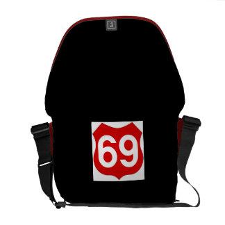 Medium Zero Messenger Bag- Route 69 Courier Bag