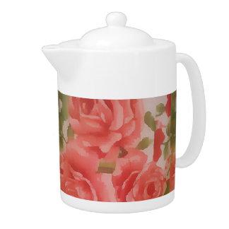 MediumTeapot with roses Teapot