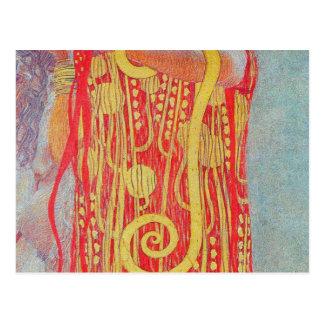 medizin de Gustavo Klimt, arte del vintage, art Postal