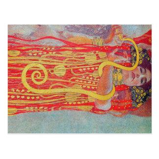 medizin de Gustavo Klimt, arte del vintage, art Postales