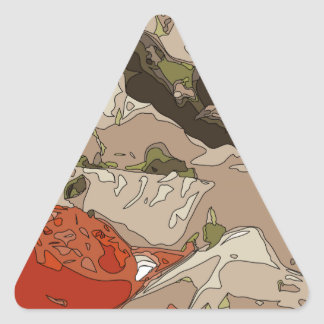 Medley of Feta Cheese, Tomatoes and Red Onion Triangle Sticker