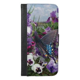 medly de la púrpura con la caja del teléfono de la funda cartera para iPhone 6/6s