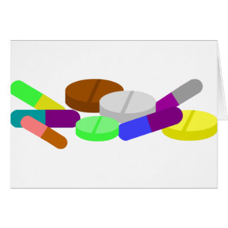 medoc COLORFUL VITAMIN PILLS NUTRITION MEDICINE GR Card