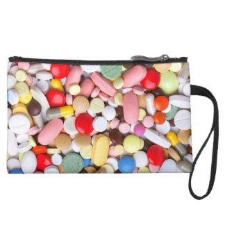 Meds ~ photo print of drugs / medication / pills suede wristlet