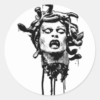 Medua Head Classic Round Sticker