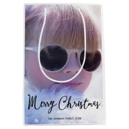 Meduim Personalized Photo Christmas Gift Bags