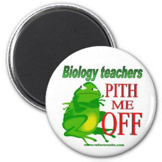 Médula de los profesores de biología yo apagado imán redondo 5 cm