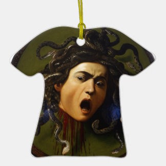 Medusa 1595 - 1598 by Caravaggio Merisi Christmas Ornaments