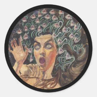 Medusa 1895 round sticker