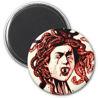 MEDUSA AS VAMPIRE VINTAGE PRINT IN RED FRIDGE MAGNET