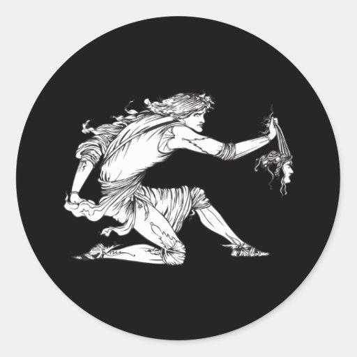 Medusa Aubrey Beardsley Etiquetas