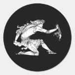 Medusa Aubrey Beardsley Round Stickers