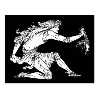 Medusa Aubrey Beardsley Tarjeta Postal