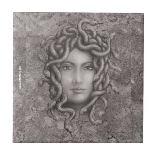 Medusa Azulejo Cuadrado Pequeño