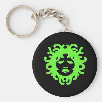 Medusa Basic Round Button Keychain