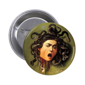 Medusa, Caravaggio Buttons