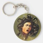 Medusa, Caravaggio Keychains