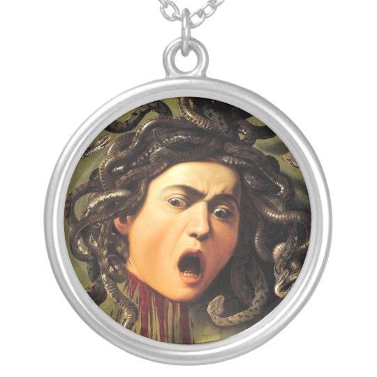 Medusa, Caravaggio Silver Plated Necklace