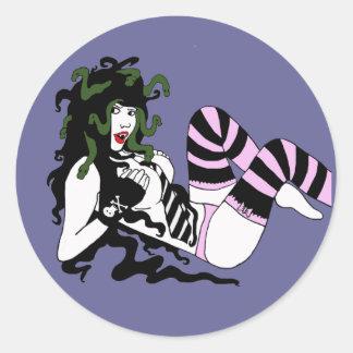 Medusa Classic Round Sticker
