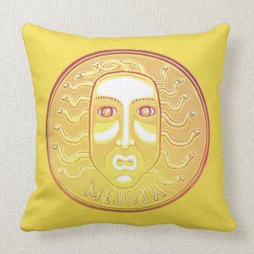 Halloween Themed Medusa Coin cotton throw pillow
