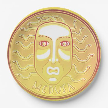 Halloween Themed Medusa Coin paper plate