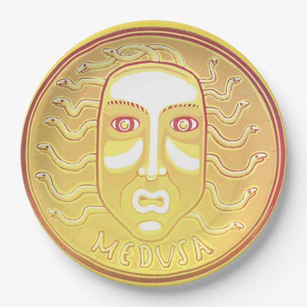 Medusa Coin paper plate