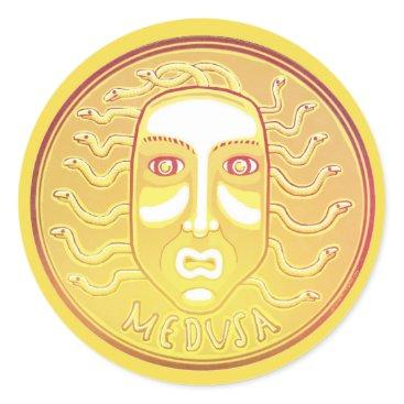 Halloween Themed Medusa Coin sticker