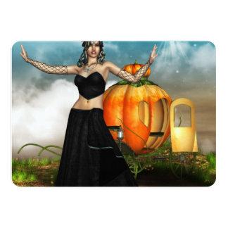 """Medusa de Halloween Invitación 5"""" X 7"""""""