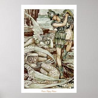 Medusa del asesinato de Perseus Póster