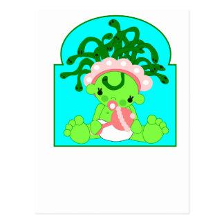 Medusa del bebé postal