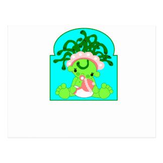 Medusa del bebé tarjeta postal