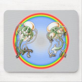 Medusa del tee de golf alfombrillas de ratones